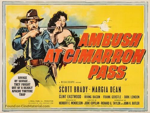 Ambush at Cimarron Pass - British Movie Poster