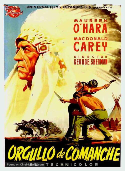 Comanche Territory - Spanish Movie Poster