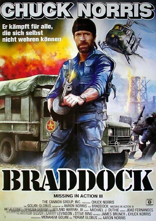 Braddock: Missing In Action III   German Movie Poster