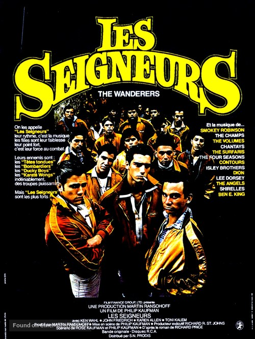 The Wanderers - French Movie Poster