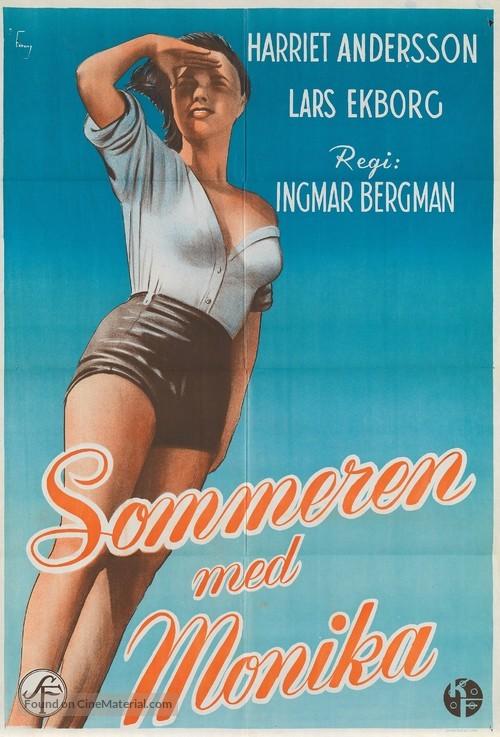 Sommaren med Monika - Norwegian Movie Poster