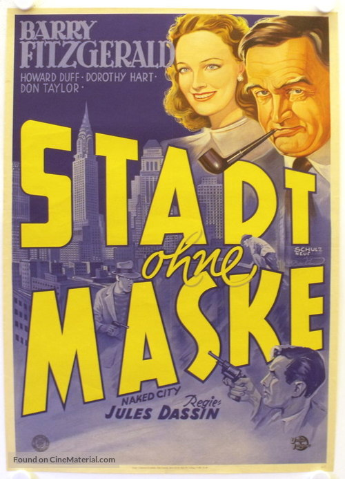 The Naked City - German Movie Poster