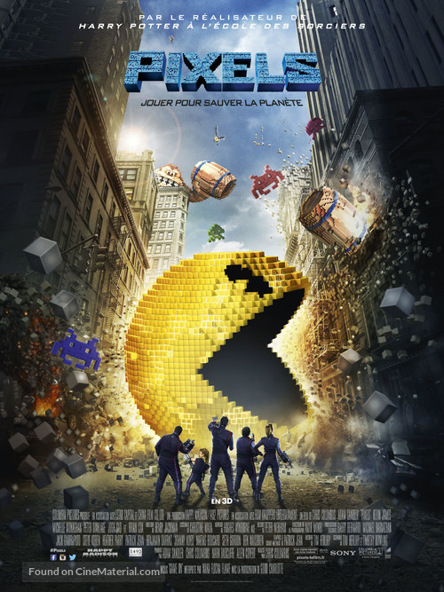 Pixels - French Movie Poster