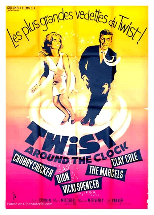 Twist Around the Clock - French Movie Poster
