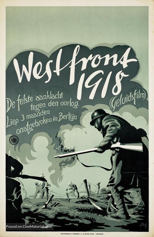Westfront 1918: Vier von der Infanterie - Dutch Movie Poster