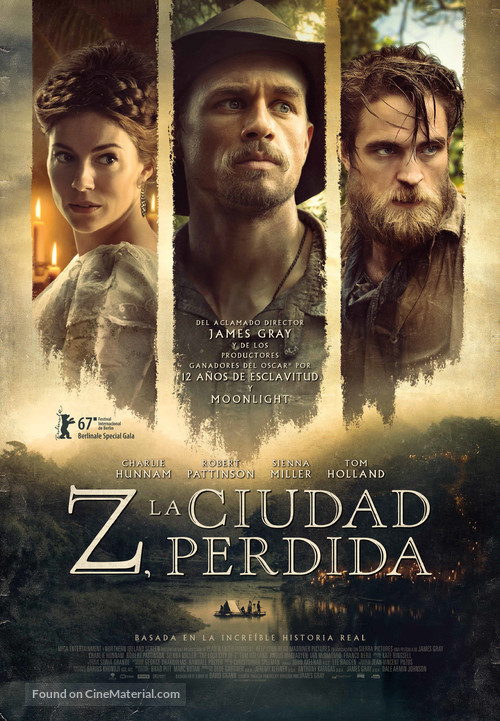 The Lost City of Z - Spanish Movie Poster