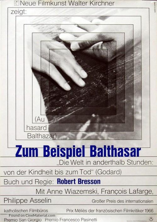 Au hasard Balthazar - German Movie Poster