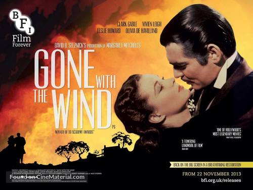 Gone with the Wind - British Movie Poster