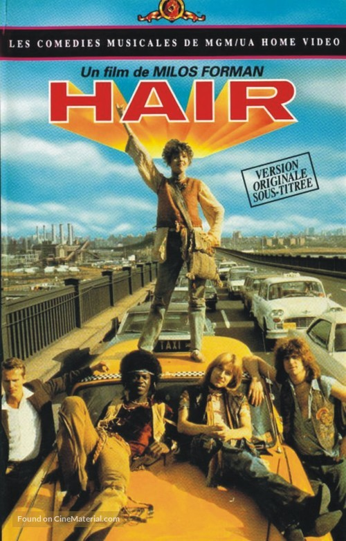 Hair - French DVD movie cover