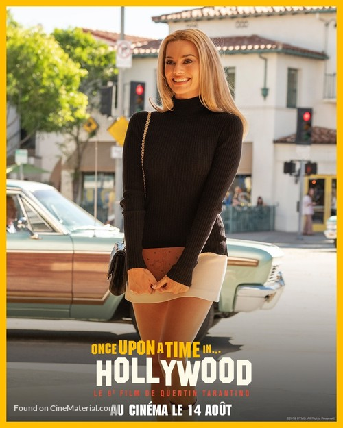 Once Upon a Time in Hollywood - French Movie Poster