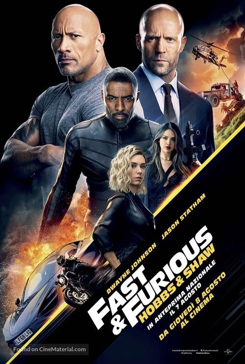 Fast & Furious Presents: Hobbs & Shaw - Italian Movie Poster