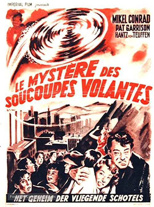 The Flying Saucer - Belgian Movie Poster