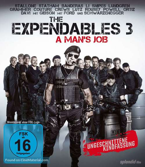The Expendables 3 - German Blu-Ray movie cover