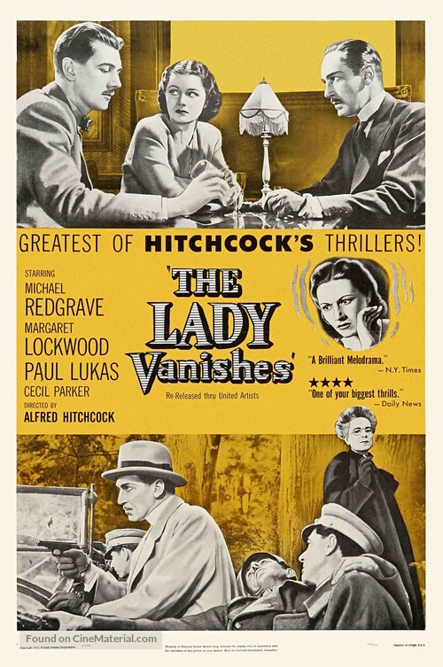 The Lady Vanishes - Re-release poster