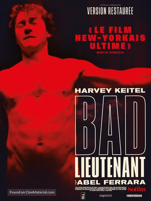 Bad Lieutenant - French Re-release movie poster