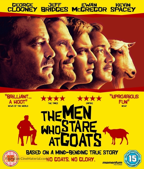 The Men Who Stare at Goats - British Blu-Ray movie cover