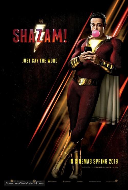 Shazam! - British Movie Poster
