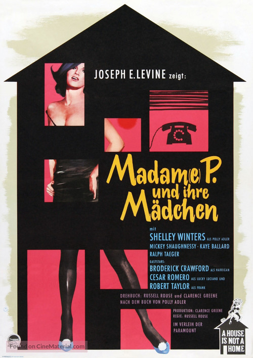 A House Is Not a Home - German Movie Poster