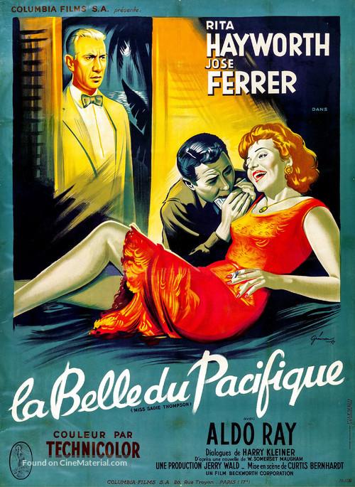 Miss Sadie Thompson - French Movie Poster