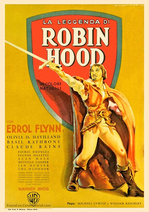 The Adventures of Robin Hood - Italian Movie Poster