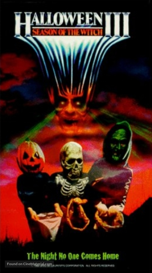 Halloween III: Season of the Witch - VHS movie cover