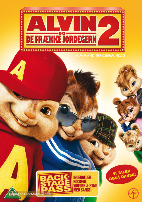 Alvin and the Chipmunks: The Squeakquel - Danish Movie Cover