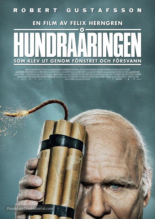 Hundraåringen som klev ut genom fönstret och försvann - Swedish Movie Poster