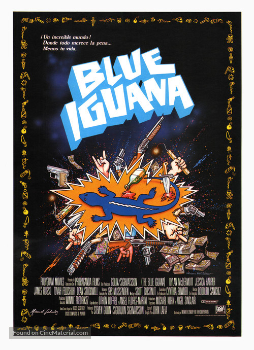 The Blue Iguana - Spanish Movie Poster