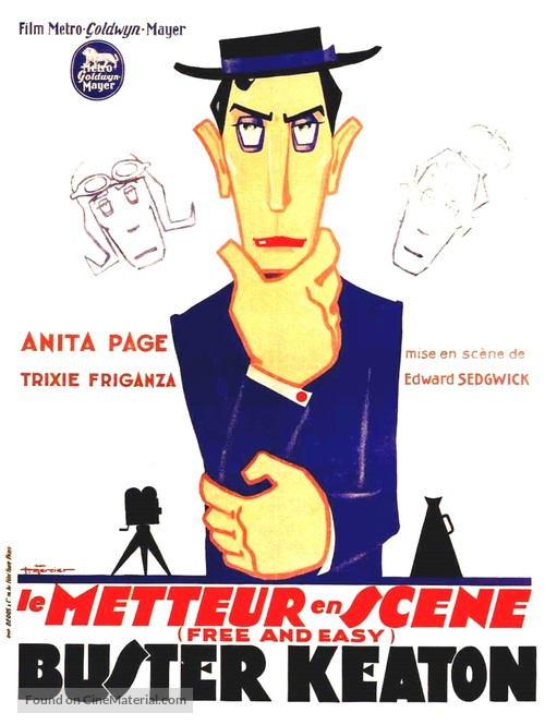 Free and Easy - French Movie Poster