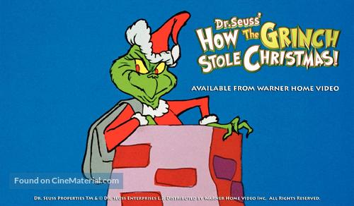 How The Grinch Stole Christmas 1966 Movie Poster.How The Grinch Stole Christmas 1966 Video Release Movie