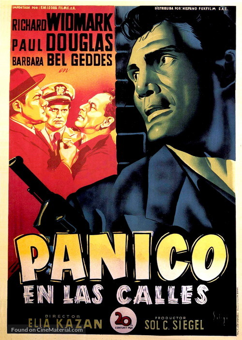 Panic in the Streets - Spanish Movie Poster