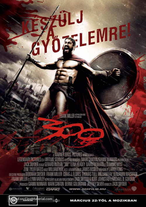 300 - Hungarian Movie Poster