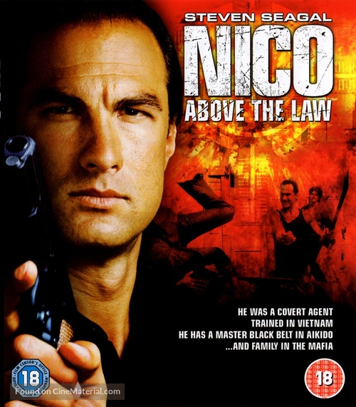 Above The Law (1988) British dvd movie cover