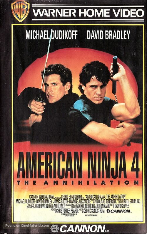 American Ninja 4: The Annihilation - Finnish VHS cover