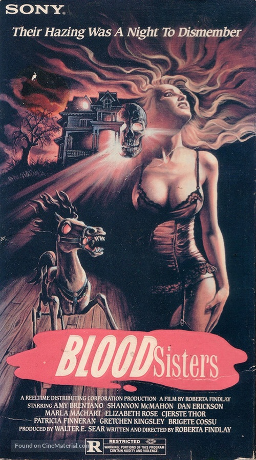 Blood Sisters - VHS cover
