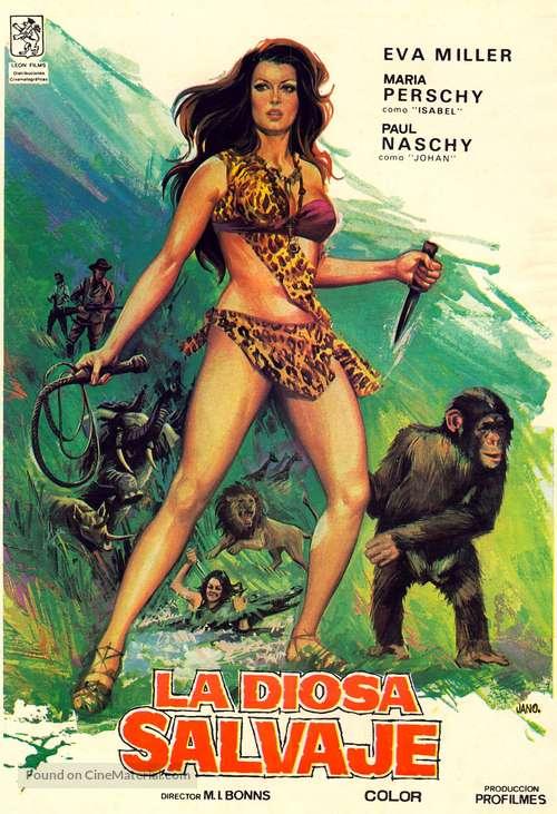 La diosa salvaje - Spanish Movie Poster