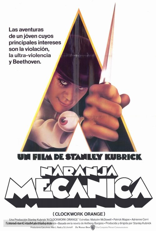 A Clockwork Orange - Spanish Movie Poster
