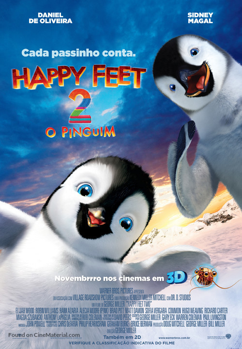 Happy Feet Two - Brazilian Movie Poster