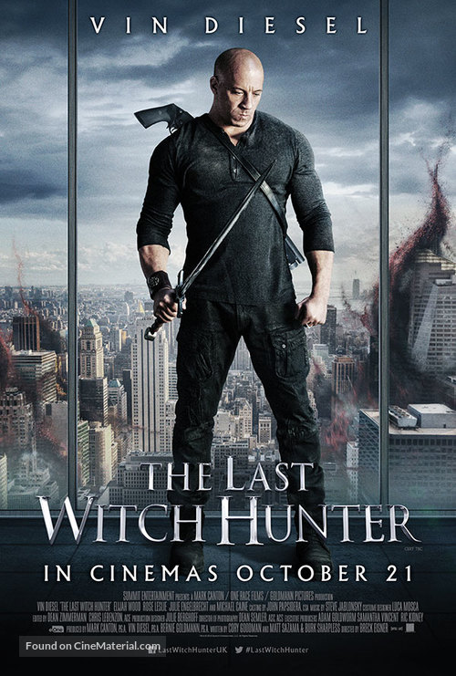 The Last Witch Hunter - British Movie Poster