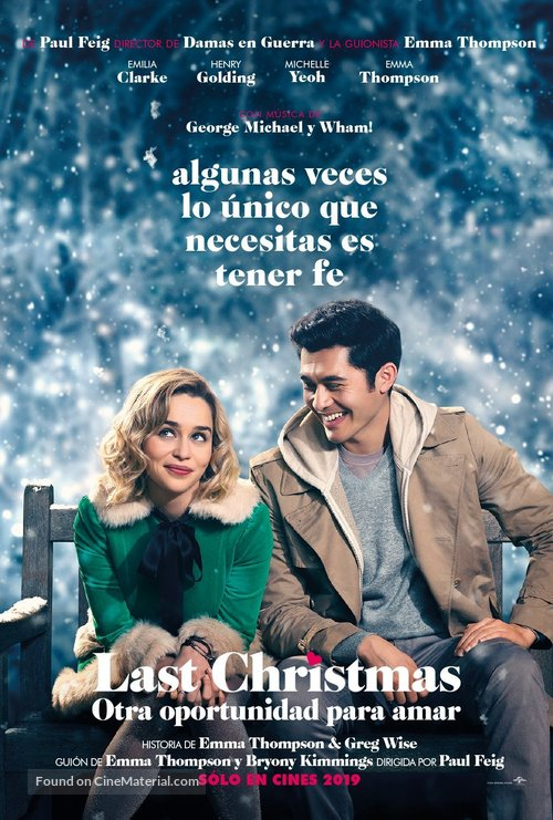 Last Christmas - Argentinian Movie Poster