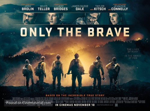 Only the Brave - British Movie Poster