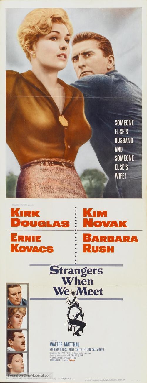 Strangers When We Meet - Movie Poster