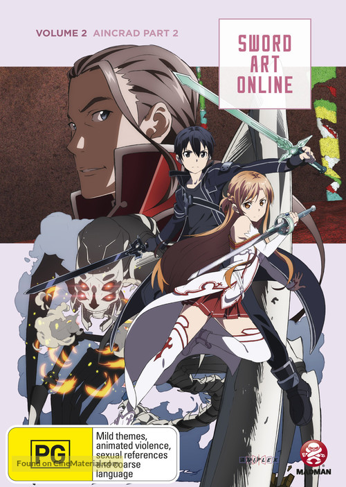 """Sword Art Online"" - Australian DVD movie cover"