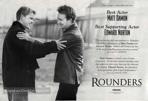 Rounders - For your consideration poster