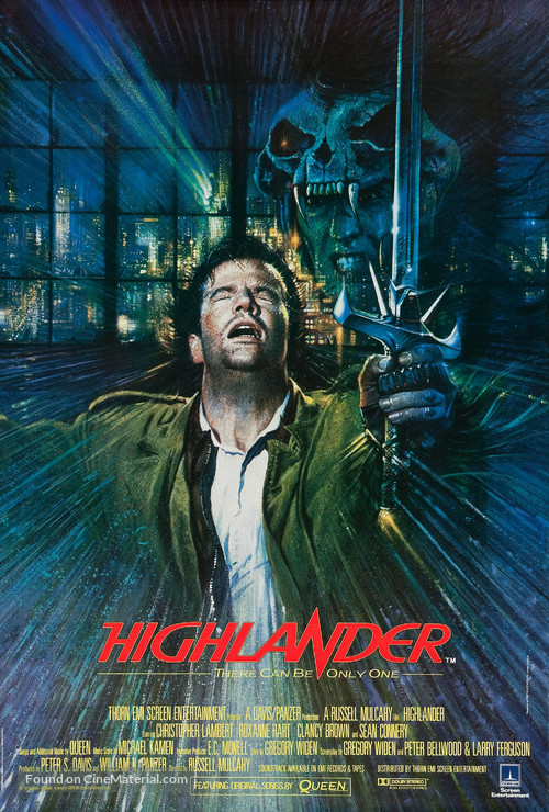 Highlander - British Movie Poster