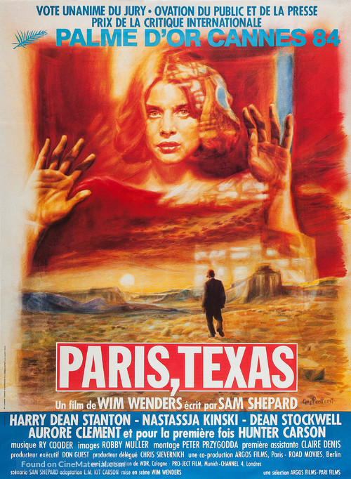 Paris, Texas - French Movie Poster