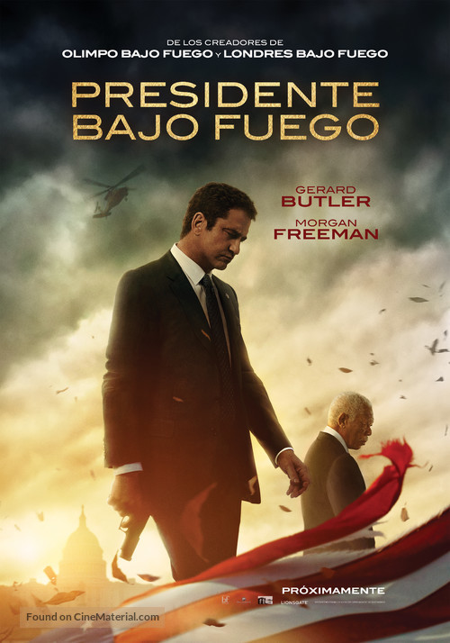 Angel Has Fallen - Chilean Movie Poster