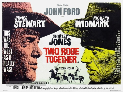 Two Rode Together - British Movie Poster