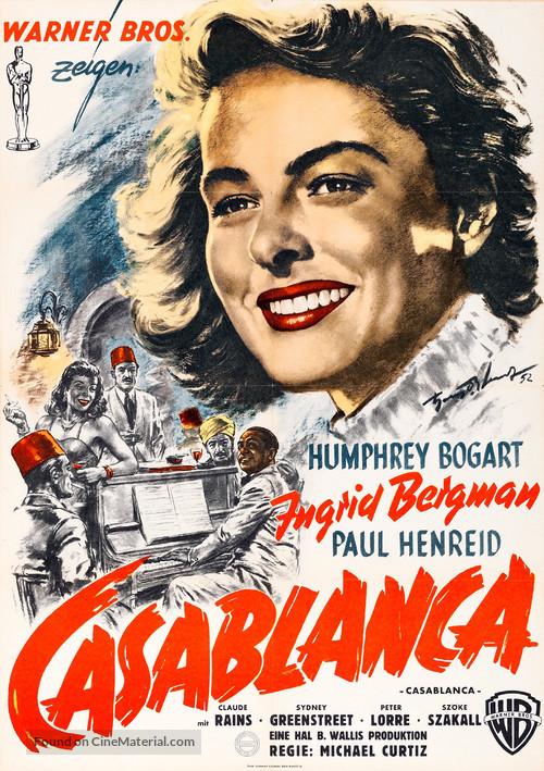 Casablanca - German Movie Poster