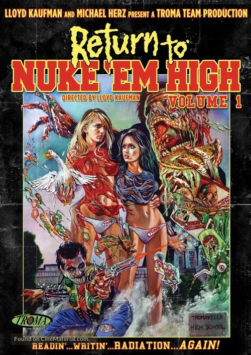 Return to Nuke 'Em High Volume 1 - DVD cover